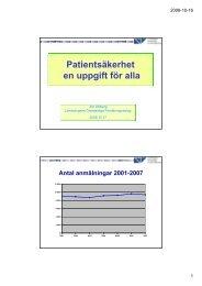Patientsäkerhet en uppgift för alla
