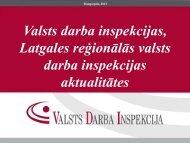VDI, Latgales reģionālās valsts darba inspekcijas aktualitātes