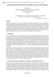 Integrating Video with Information Technology-Prospects and ...