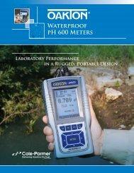 OAKTON Waterproof pH 600 Meters (618 KB) - Cole-Parmer