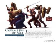 Characters of War - Wizards of the Coast