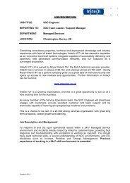 SOC Engineer - Networks - Imtech