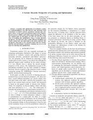 A System Theoretic Perspective of Learning and Optimization