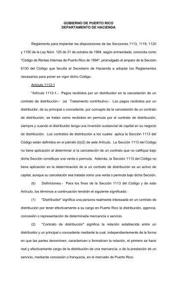5901 - Departamento de Hacienda - Gobierno de Puerto Rico