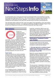Vital statistics Nottingham Treatment Centre case studies