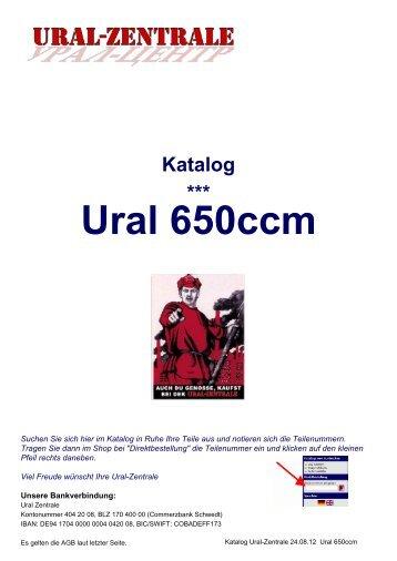 Katalog *** Ural 650ccm - Ural-Zentrale