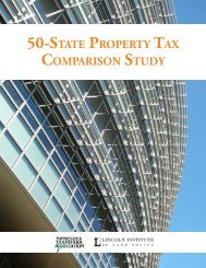 50-State ProPerty tax ComPariSon Study - Lincoln Institute of Land ...