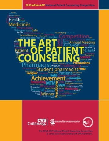 the art counseling of patient - American Pharmacists Association
