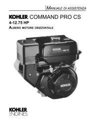 COMMAND PRO CS - Kohler Engines