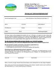 Antrag auf Jahresmitgliedschaft ab 2012 - Golf Club Op de Niep