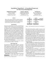 A Generalized Framework for Word Sense Disambiguation