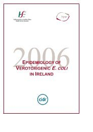 Epidemiology of Verotoxigenic E. coli in Ireland, 2006 - Health ...