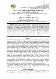 vasarāju graudaugu sugu piemērotība - Rēzeknes Augstskola