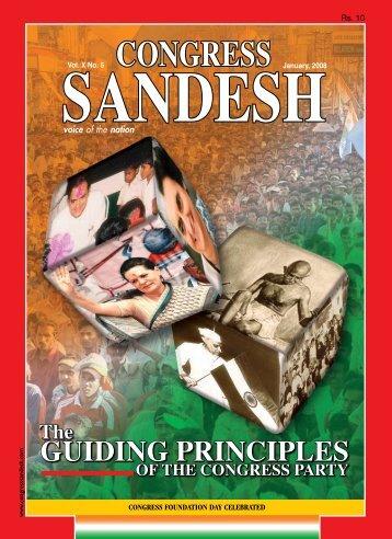 GUIDING PRINCIPLES - Congress Sandesh