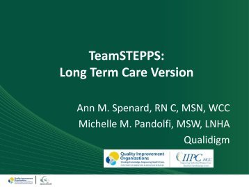 TeamSTEPPS: Long Term Care Version