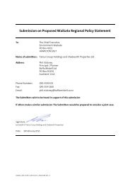 Submission on Proposed Waikato Regional Policy Statement