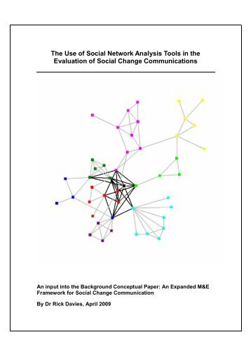 The Use of Social Network Analysis Tools in the Evaluation of Social ...
