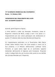 Intervento del Presidente Guzzetti - Acri