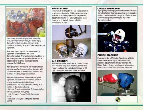 Sports Injury Biomechanics Lab - College of Engineering - Wayne