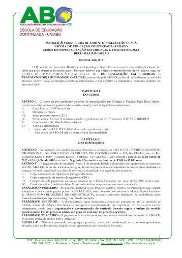 Especialização em Cirurgia e Traumatologia Buco-Maxilo ... - ITpack