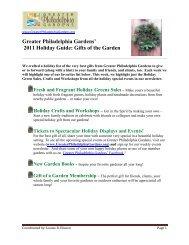 Holiday Green Sales - Greater Philadelphia Gardens