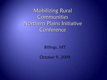 Presentation Link - Rural Dynamics
