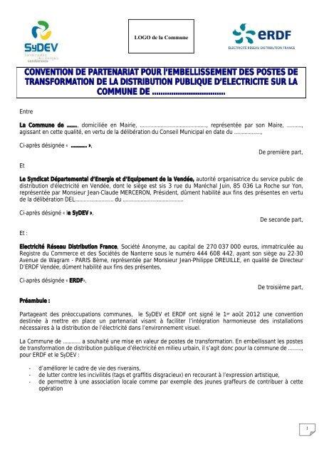 Convention De Partenariat Pour L Sydev