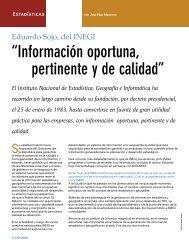 Eduardo Sojo, del INEGI - Coparmex