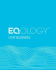 OUR BUSINESS - Eqology