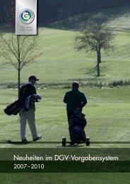 Download DGV-Vorgabensystem - Golfclub Steigerwald