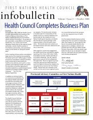 FNHC Infobulletin Volume 1 Issue 3 | October 2008 - First Nations ...