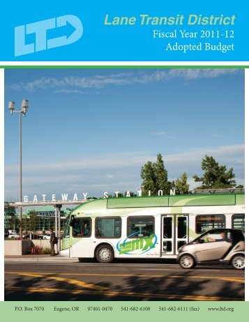 2011-2012 Adopted Budget - Lane Transit District