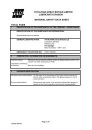 totalfina great britain limited lubricants division ... - CHEMODEX Ltd