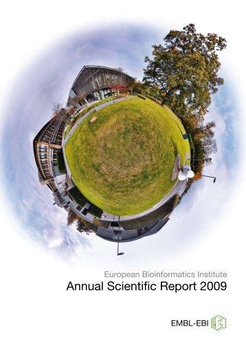 Annual Scientific Report 2009 - European Bioinformatics Institute