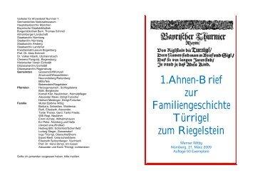 Ahnenbrief - Werner Wittig