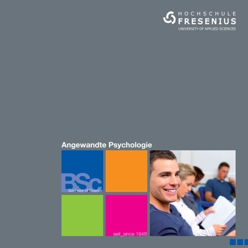 Studienbroschüre Angewandte Psychologie - Hochschule Fresenius