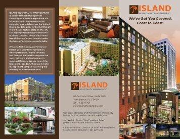 1175 Island Hosp. Mgmnt. brochure3.indd - Island Hospitality ...