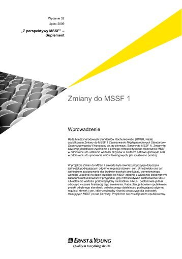 Zmiany do MSSF 1 - Ernst & Young