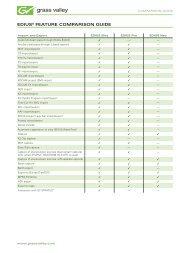 EDIUS Feature Comparison Guide - Digital Systems