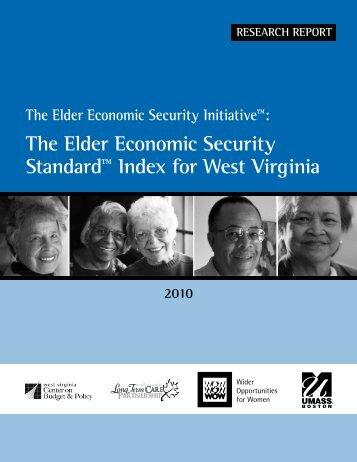 The Elder Economic Security Standard™ Index for West Virginia