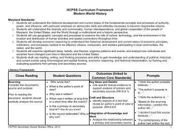 Grade 11: Modern World History - Howard County Public Schools