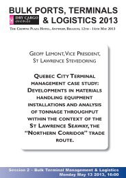 bulk ports, terminals & logistics 2013 - Dry Cargo International