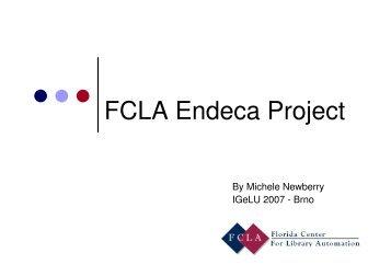FCLA Endeca Project - IGeLU