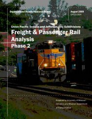 Freight & Passenger Rail Analysis Phase 2