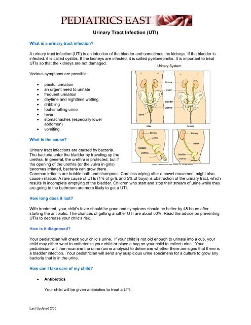 Urinary Tract Infection - Pedseast org