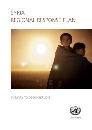 SYRIA REgIoNAl RESpoNSE plAN - World Health Organization