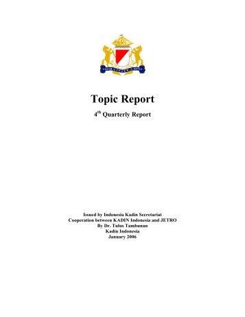 Quarterly Report - Kadin Indonesia