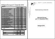HV Jahresrechnung 2012 und Budget 2013 - SBK Sektion ...