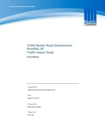 Traffic Impact Study with comments from MOTI - Fraser Valley ...