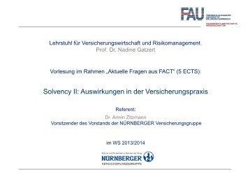 Solvency II: Auswirkungen in der Versicherungspraxis - Friedrich ...